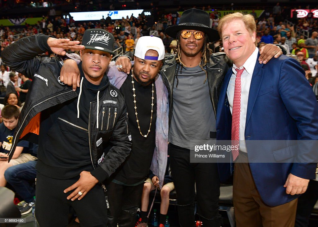 T.I Performs Halftime And Postgame Show - Cleveland Cavaliers vs Atlanta Hawks : News Photo