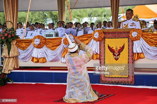 Theerapat Prayurasiddhi Thailand's permanent secretary at the Ministry of Agriculture and Cooperatives and Lord of the Royal Ploughing Ceremony bows...