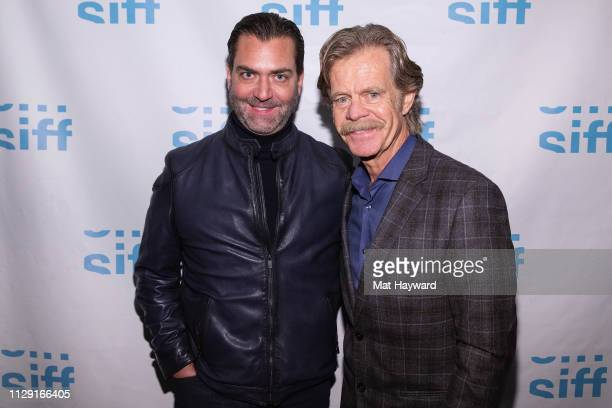 """TheFilmSchool Vice President Scott Wasner and Actor William H. Macy attend a screening of the film """"Stealing Cars"""" and a Q&A hosted by TheFilmSchool..."""