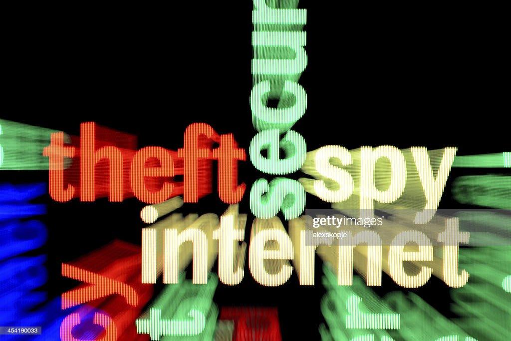 Diebstahl Spion internet : Stock-Foto