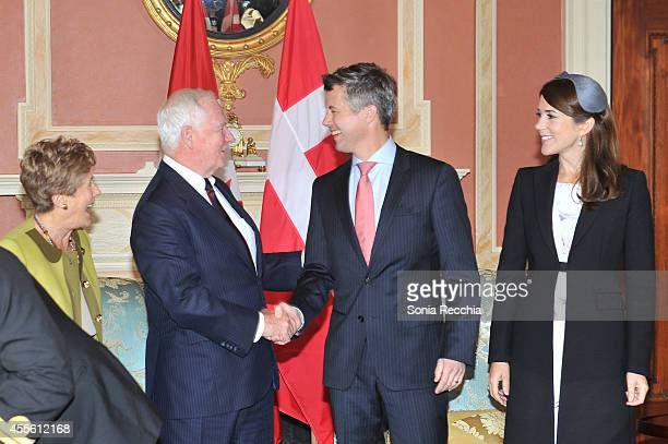 Their Excellencies Mrs. Sharon Johnston, The Right Honourable David Johnston Governor General of Canada, Crown Prince Frederik And Crown Princess...