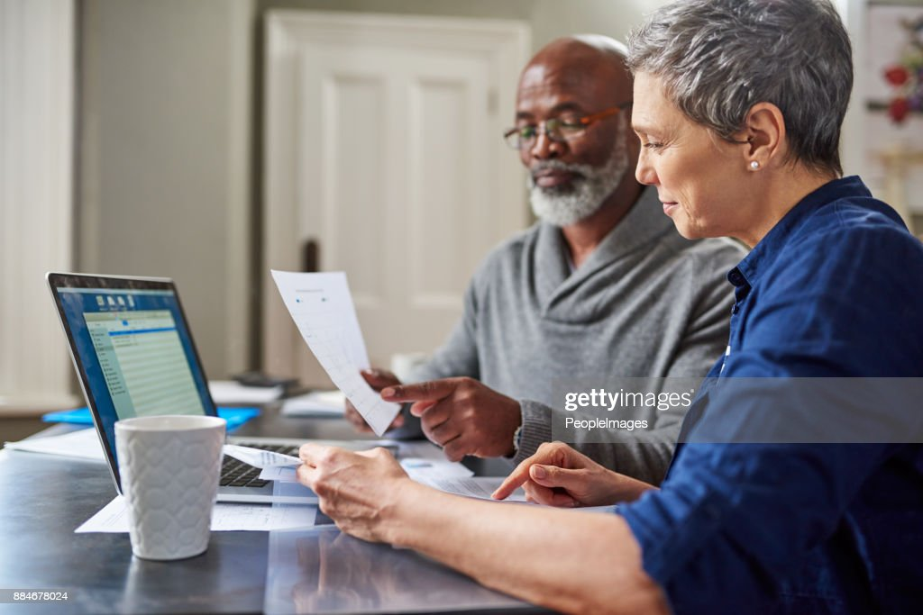 Their finances are in the green : Stock Photo