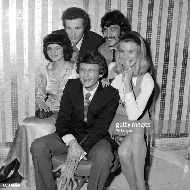 """Their first disc, a single called """"Way of Life"""", is a success for the vocal harmony group 'The Family Dogg', pictured today at EMI House, Manchester..."""