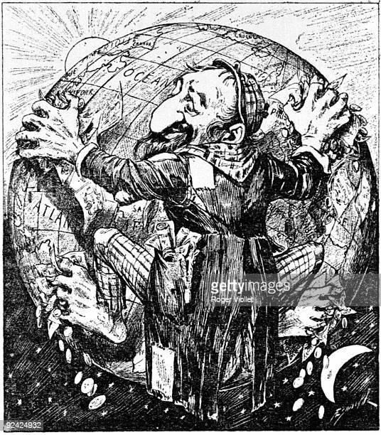 """Their homeland"", anti-Semitic caricatue. France, around 1900."