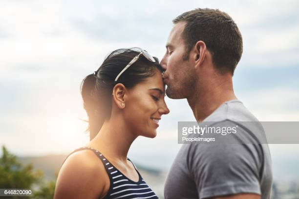 their love is something special - forehead stock pictures, royalty-free photos & images
