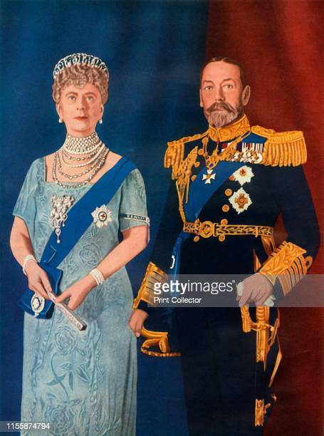 Their Majesties King George V and Queen Mary at the time of their Silver Jubilee in 1935', . George V and Mary of Teck of the United Kingdom. From...
