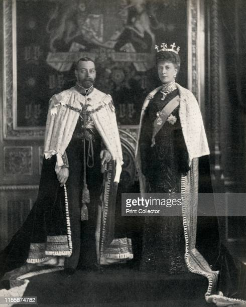 Their Majesties King George V and Queen Mary at their first opening of Parliament', 6 February 1911, . George V and Mary of Teck of the United...