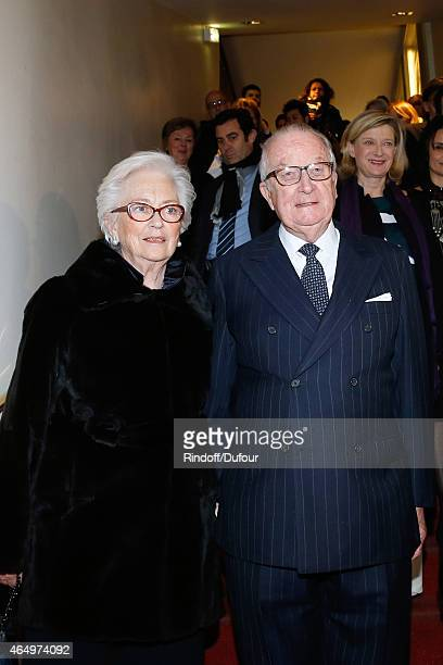 Their Majesties the KingAlbert II of Belgium and Queen Paola of Belgium attend the 'Talking to the Trees Retour a La Vie' movie screening at Cinema...