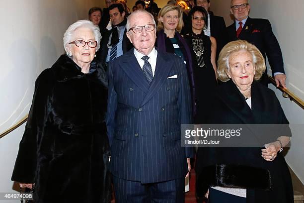 Their Majesties the KingAlbert II of Belgium, Queen Paola of Belgium and Member of the sponsorship committee of Missing Children Europe Bernadette...