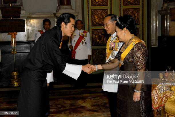 Their Majesties welcome HRH Crown Prince Jigme Khesar Namgyel Wangchuck of Bhutan For the Sixtieth Anniversary Celebrations of His Majesty's...