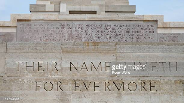 Their Name Liveth for Evermore at Lone Pine Memorial in Gallipoli