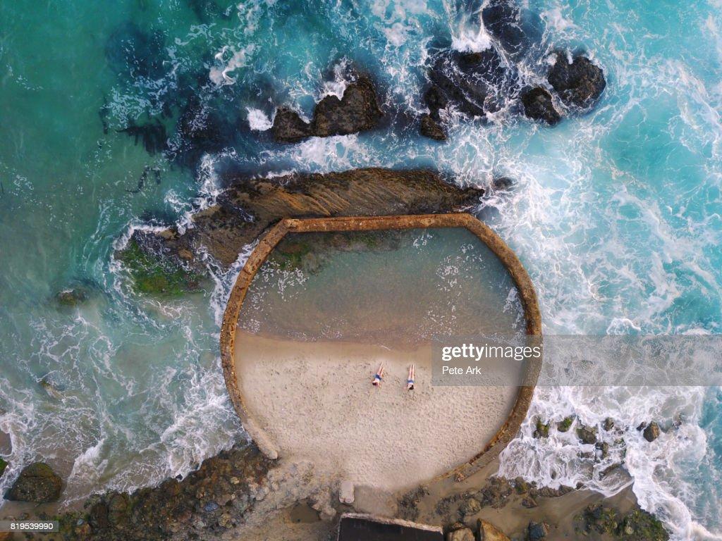Their Own Private Beach : Stock Photo
