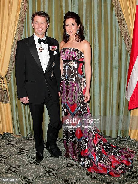 Their Royal Highnesses Crown Prince Frederik and Crown Princess Mary of Denmark attend the AmericanScandinavian Foundation Dinner at The Pierre Hotel...