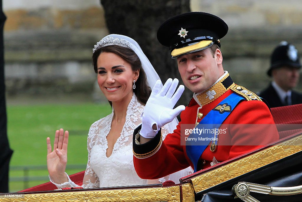 The Wedding of Prince William with Catherine Middleton - Procession : Nieuwsfoto's