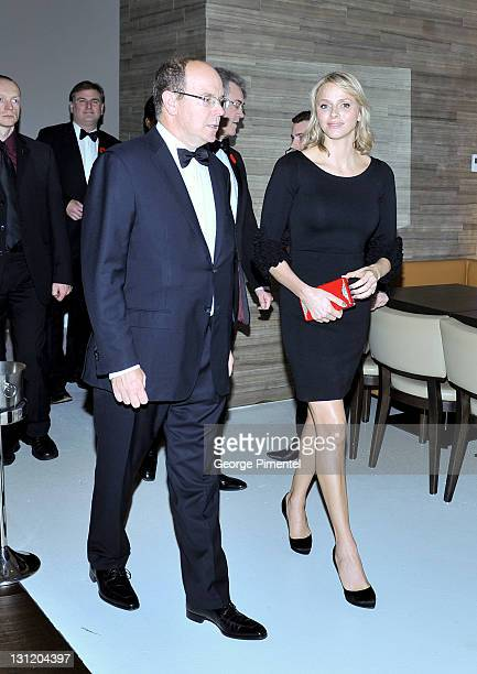 Their Serene Highnesses Prince Albert II of Monaco and Princess Charlene of Monaco attend the Reception for the Grand Opening of Grace Kelly: From...
