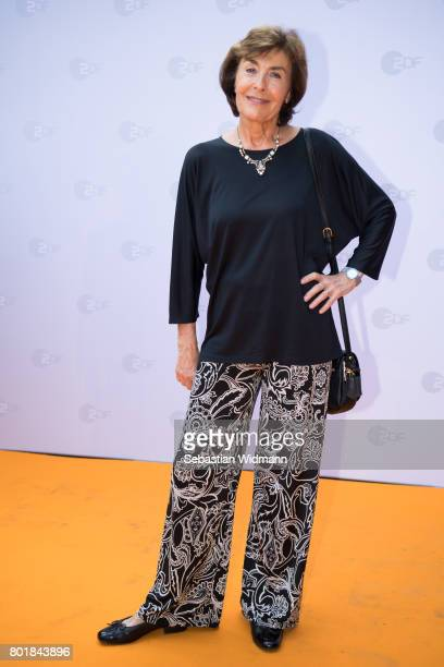 Thekla Carola Wied arrives at the ZDF reception during the Munich Film Festival at Hugo's on June 27 2017 in Munich Germany