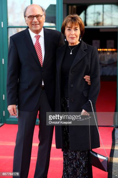 Thekla Carola Wied poses with husband Hannes Rieckhoff during the Steiger Award at Coal Mine Hansemann 'Alte Kaue' on March 25 2017 in Dortmund...