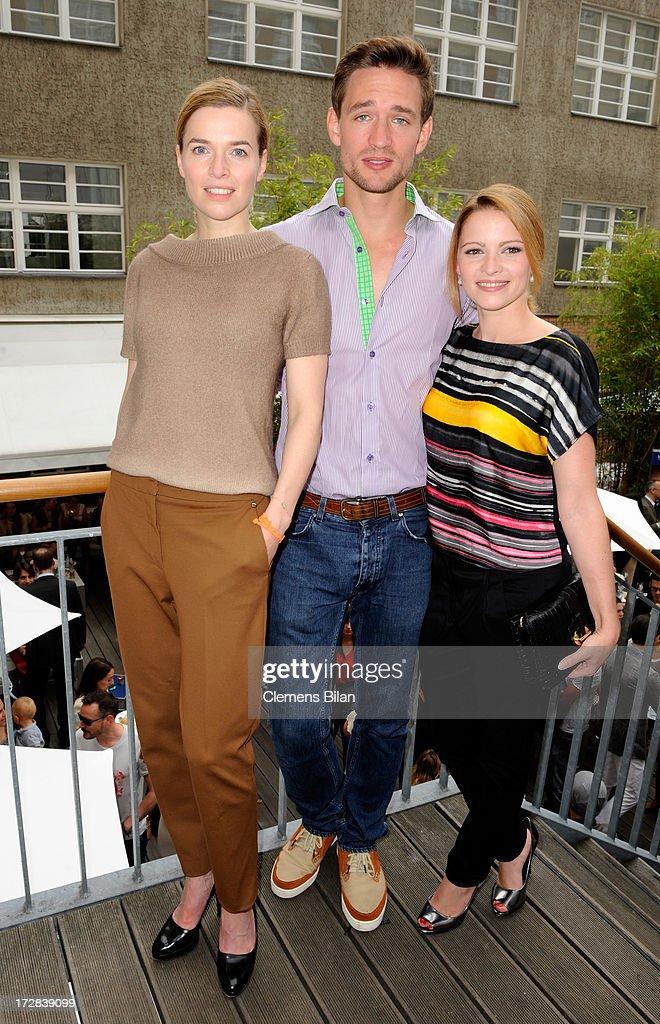 Thekla Reuten, August Wittgenstein and Jennifer Ulrich attend the Gala Fashion Brunch at Ellington Hotel on July 5, 2013 in Berlin, Germany.