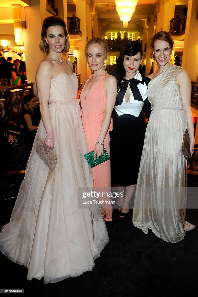 Thekla Reuten, Friederike Kempter and Anna Fischer attend the Lola - German Film Award 2013 - Party at Friedrichstadt-Palast on April 26, 2013 in Berlin, Germany.