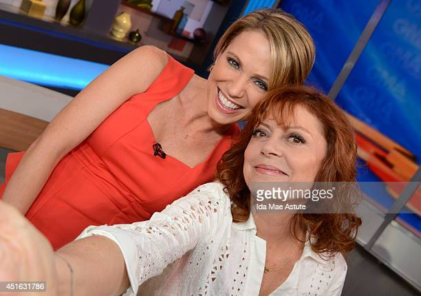 AMERICA Thelma and Louise revisited Susan Sarandon who claims to have taken the first selfie in that 1991 film takes another selfie with Amy Robach...
