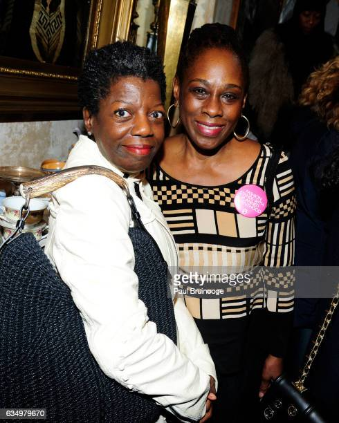Thelma Golden and Chirlane McCray attend the Tracy Reese Presentation during New York Fashion Week at 632 Hudson on February 12 2016 in New York City