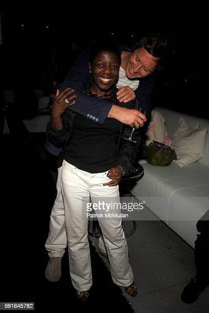 Thelma Golden and Doug Aitken attend Gucci Art Basel Party with Doug Aitken at At the home of Dan Davidson on December 3 2005 in Miami FL