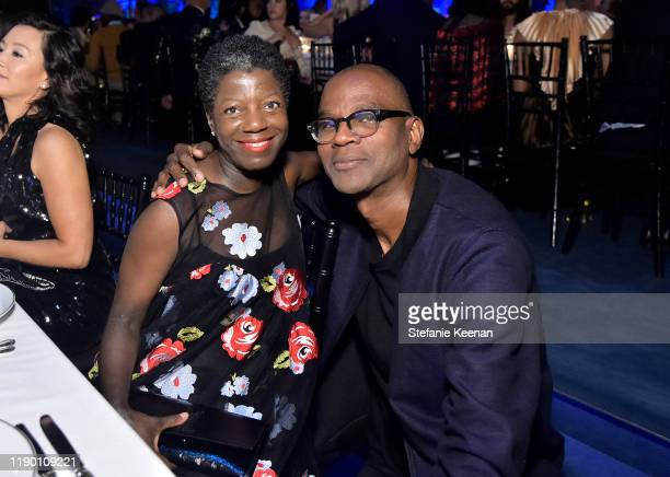 Thelma Golden and Mark Bradford attend the 2019 LACMA Art Film Gala Presented By Gucci at LACMA on November 02 2019 in Los Angeles California