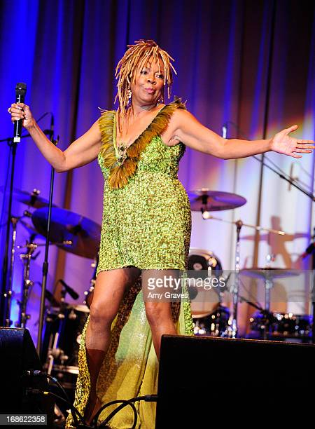 Thelma Houston performs at the CARRY Foundation's 7th Annual 'Shall We Dance' Gala at The Beverly Hilton Hotel on May 11 2013 in Beverly Hills...