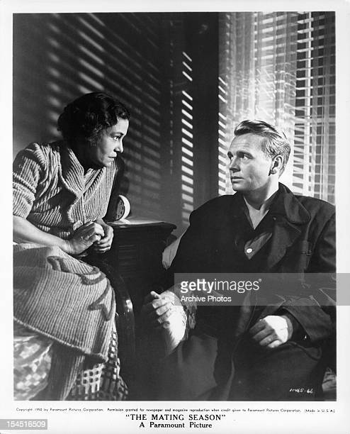 Thelma Ritter looks to John Lund in a scene from the film 'The Mating Season' 1951