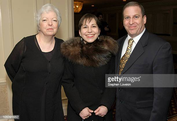 Thelma Schoonmaker Amy Heller and Dennis Doros during The 70th Annual New York Film Critcs Circle Awards Inside at The Roosevelt Hotel in New York...