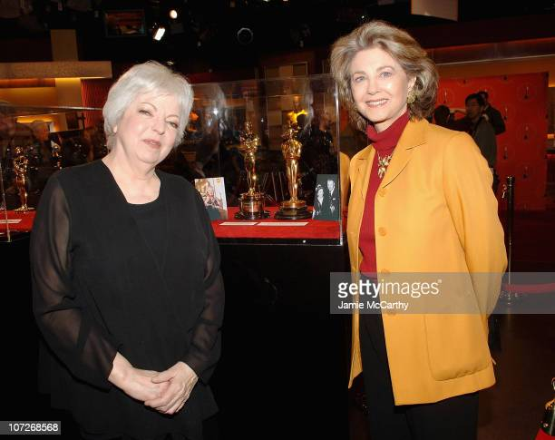 Thelma Schoonmaker and Maria Cooper Janis attend The 2008 Meet the Oscars The 50 Golden Statuettes New York Press Preview at Times Square Studios on...