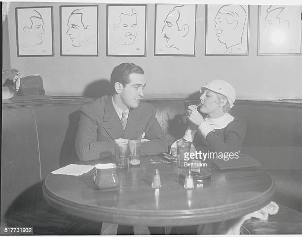 Thelma Todd and Husband at Popular Filmland Center Hollywood California Thelma Todd wellknown film actress and her husband Pasquale De Cicco...