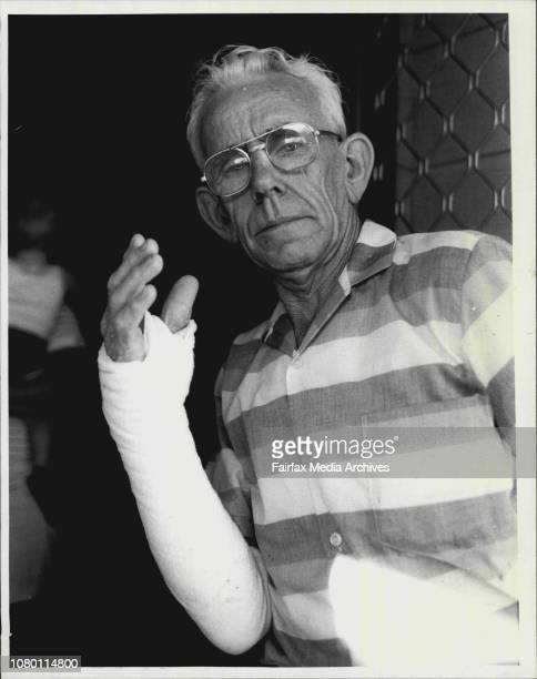 Thelma's husband Robert at home after yesterday's the train fire at RedfernA 65yearold man whose wife was badly burned in yesterday's rail carriage...