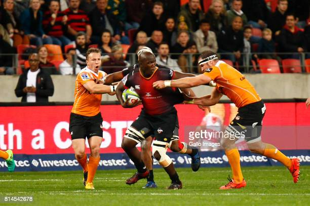 Thembelani Bholi of the Southern Kings during the Super Rugby match between Southern Kings and Toyota Cheetahs at Nelson Mandela Bay Stadium on July...