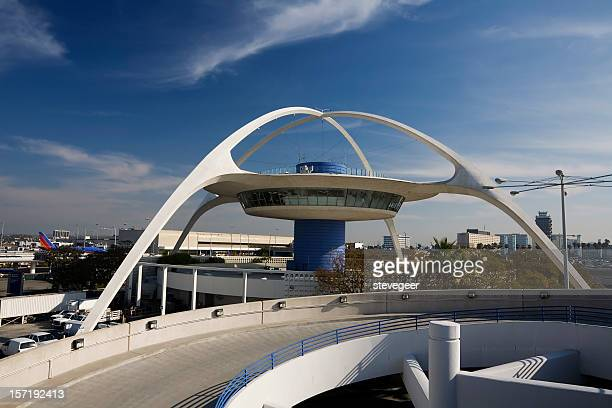 lax theme building - lax airport stock pictures, royalty-free photos & images