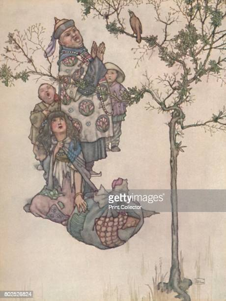 Then Began The Nightingale To Sing' c1930 An illustration from 'The Nightingale' by Hans Christian Andersen From Hans Andersen's Fairy Tales by Hans...