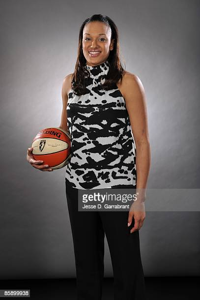 Then number two overall pick Marissa Coleman of the Washington Mystics poses for a portrait during the 2009 WNBA Draft on April 9, 2009 in Secaucus,...