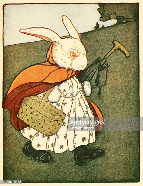 Then old Mrs Rabbit ?.went through the wood to the baker's, from The Tale of Peter Rabbit by Beatrix Potter, pub. 1916 , 1916. Artist American School...