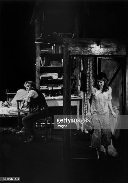 Theo Adam as Baal and Emily Rawlins as Sophie in >Baal< by Friedrich Cerha Director Otto Schenk Vienna State Opera Premiere 25th September 1981...