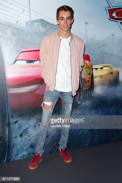Theo Behague attends 'Cars 3' Paris premiere at Gaumont Marignan on July 9 2017 in Paris France