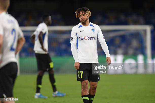 Theo Bongonda of KRC Genk during the UEFA Champions League match between SSC Napoli and KRC Genk at Stadio San Paolo Naples Italy on 10 December 2019.