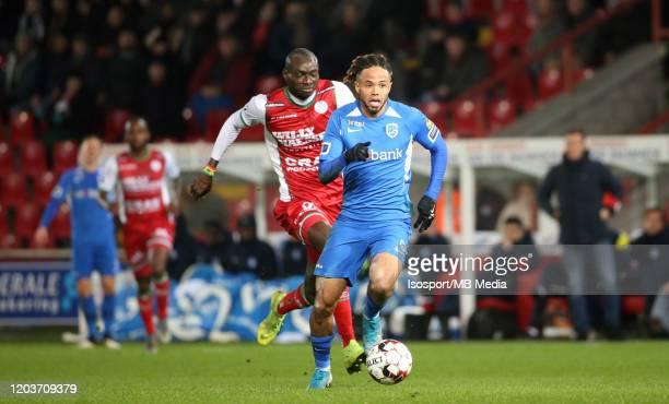 Theo Bongonda of Krc Genk in action during the Jupiler Pro League match between SV Zulte Waregem and KRC Genk at Regenboogstadion on January 19, 2020...