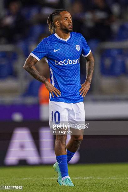 Theo Bongonda of KRC Genk looking disappointed after the loss during the Champions League qualification match between KRC Genk and Shakhtar Donetsk...