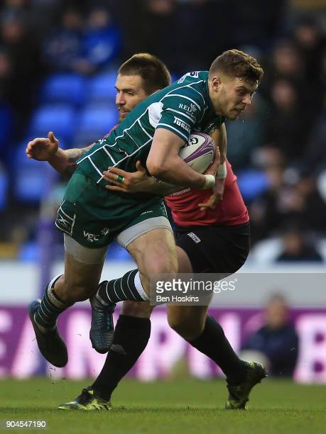 Theo Brophy Clews of London Irish makes a break during the European Rugby Challenge Cup between London Irish and Krasny Yar on January 13 2018 in...