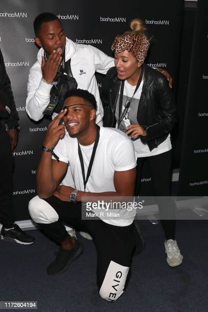 Theo Campbell and Kaz Crossley attending the boohooMAN x DENO Launch Party held at Thorpe Park The theme park was closed exclusively for the event on...