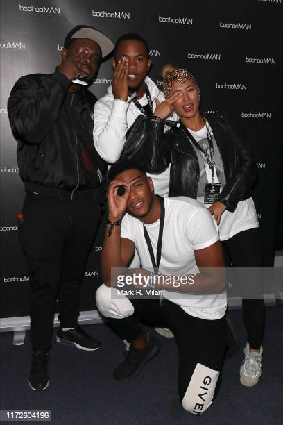 Theo Campbell Sideman Kaz Crossley attending the boohooMAN x DENO Launch Party held at Thorpe Park The theme park was closed exclusively for the...