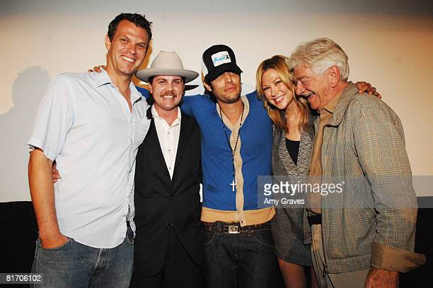 Theo Carlson Jake Alsten Shawn Andrews Desi Lydic and Seymour Cassell attend the 2008 Los Angeles Film Festival's Big Heart City Screening on June 24...