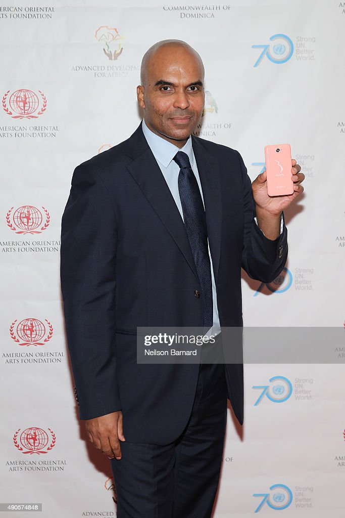 Theo Cosmora, Founder and CEO Socialeco attends a reception gala for the 70th Anniversary of the United Nations and the Post-2015 Development Agenda at United Nations on September 29, 2015 in New York City.