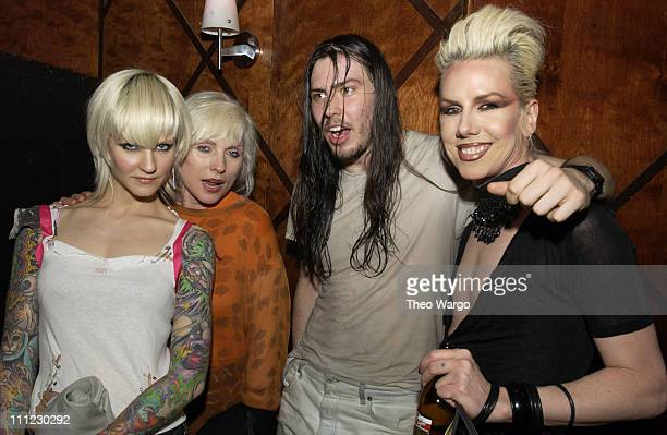 Theo Deborah Harry Andrew WK and Miss Guy during Motherfu**er 2 Year Anniversary Party at Roxy in New York City New York United States