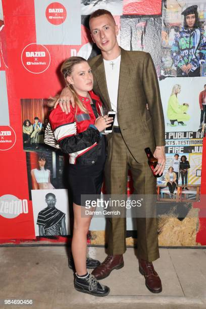 Theo Ellis and Annabel Phillips attend the Dazed and YouTube Dazed100 celebration at St Giles House on June 26 2018 in London England